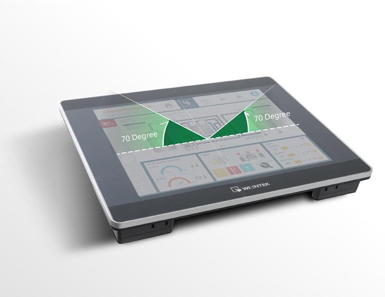 Weintek XE Serisi geniş görünürlük açısı sağlar